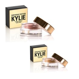 Wholesale Cheap Wholesale Glitter - Kylie Creme Shadow Kylie Jenner Birthday Edition Makeup Kit Copper Rose Gold EyeShadow Eyes Cosmetics Cheap Price DHL Free Shipping!