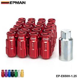 Wholesale Nissan Racing - EPMAN Racing Aluminum Lock Lug Nuts 20pcs 12x1.25 W Key Universal Fit For Nissan Subaru Aftermarker Wheel Nuts EP-E650H-1.25