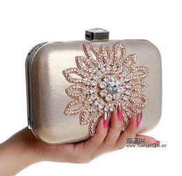 Wholesale Cheap European Fashion Free Shipping - In Stock 2016 Diamond Evening Bags Handbags Silver Black Golden Charming 12*4*16cm Allured Free Shipping Cheap Price Fashion Woman Handbags