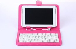 Wholesale Leather Case 9inch Tablet - Leather Case with Micro USB Interface Keyboard for Q88 Samsung Lenovo 7 8 9inch MID Tablet PC