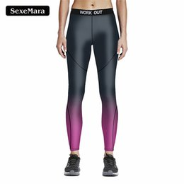 Wholesale Black Milk S - Wholesale- Hot Selling Sexy Fashion Black Purple Long Pants Women Mixed Color Leggings 3D Printed Pants Workout Milk Legging jy33018