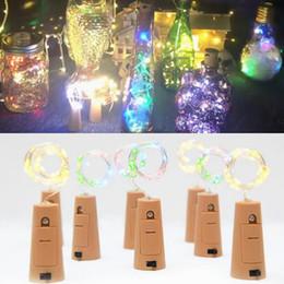 2019 luces led botellas de cerveza Corcho en forma de lámpara LED tapón de la botella de luz vino de cerveza vino led luces de cadena de alambre de cobre decoración del partido para la boda de navidad de halloween yw209 luces led botellas de cerveza baratos
