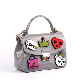Wholesale Jelly Clutch Bags - Wholesale- Woman bag New 2017 Brand fashion Handbag shining PU jelly bag Boutique tote candy transparent noble feminina bag Casual Clutch