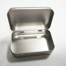 Wholesale Tea Tins Wholesaler - Plain Silver Tin Box 95x60x21mm Rectangle Tea Candy Mint Business Card USB Storage Box Case Wholesale wen4665