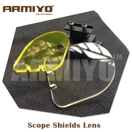 Wholesale Sight Protector - Armiyo Hunting Airsoft BB Balls Bulletproof Lens Scope Shields 20mm Rail Mount Optics Holographic Gun Sight 551 552 Shooting Protector