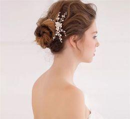 Wholesale Vintage Rhinestone Tiara Heart - Vintage Wedding Bridal Pearl Comb Hair Accessories Crystal Rhinestone Headpiece Princess Queen Crown Tiara Jewelry Head Piece Hair Pins Lot