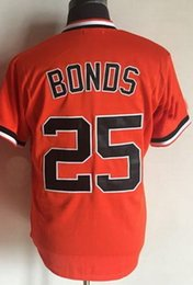 Wholesale High Quality Giant - GIANTS 25 BONDS Baseball Jerseys,Discount various personality Baseball Wear,High quality 24 MAYS Baseball wear,2016 NEW menS ball Jerseys