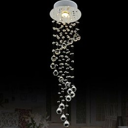 Wholesale Lamp Modern Cottage - VALLKIN Mini Crystal Pendant Light Lamp Fixtures For Staircase Dining Room Bar with AC110 to 240V