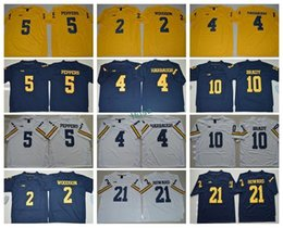 Wholesale Tom Brady College Football Jersey - Best 5 Jabrill Peppers Michigan Wolverines College Jerseys 2017 Yellow Blue White 10 Tom Brady 2 Charles Woodson 4 Jim Harbaugh 21 Howard