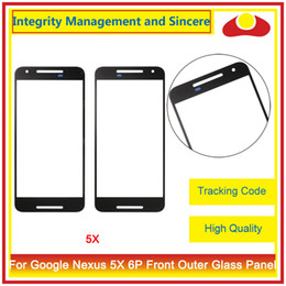 Wholesale Lg Nexus Digitizer - For LG Google Nexus 5X H790 H791 And For Huawei Google Nexus 6P H1511 H1512 Front Outer Glass Lens Touch Screen Panel Digitizer
