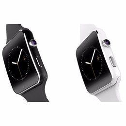 Wholesale German Brand Watches - New brand bluetooth x 6 smart watch for apple for samsung sim with camera support tf card 1.54 inch touch screen