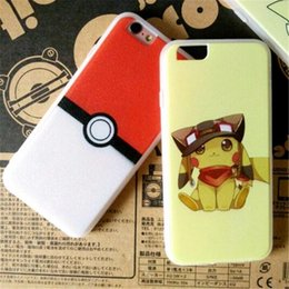 Wholesale Iphone Cases Cartoon Lovers - Poke Pikachu Soft Shell Cell Phone Cases Lover Cartoon Back Cover Protective Case for iphone6 6S(4.7) iphone6P 6Splus(5.5)