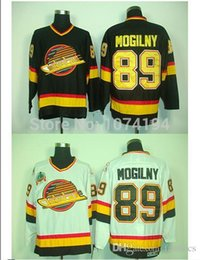 Wholesale Alexander Free - Vancouver Canucks #89 Alexander Mogilny Jersey White CCM Sports ICE Winter Free Shipping Stitched Hockey Jerseys