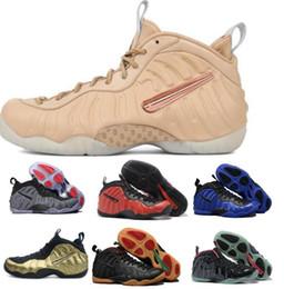 Wholesale Golden Rubbers - Best Air Penny Hardaways Basketball Shoes High Quality Men's Man Men Golden Pro One Sports Foamp Osite Shoe Pearl Replicas Sneakers Size:40-