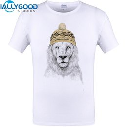 Wholesale Cheapest Clothes - Creative Winter is Comming Lion Print Cool Design Men Funny T Shirt Summer Short Sleeve Tops Cheapest Clothing Plus Size S-6XL