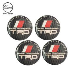 Wholesale Trd Chrome Badge - 56.5mm 3D Car Badge Wheel Center Hub Cap Sticker Durable Logo Brand Emblem Car Accessory Anti Fade Wheel Decoration Fit For TRD