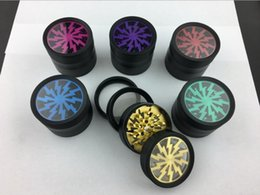 Wholesale Wholesale Metal Herb Grinders - Original Metal Tobacco Lightning Herb Grinder 52*38MM With 4 Parts Colorful Smoking Grinder Spice Crusher 6colors With Display box
