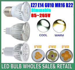Wholesale Dimmable Promotion Led Bulb 9w - promotion Dimmable GU 10 MR16 E27 9W  12W 15W LED Spotlight led lighting led bulbs led lamp Indoor led bulb