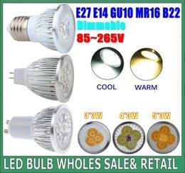 Wholesale Led Gu 15w - promotion Dimmable GU 10 MR16 E27 9W  12W 15W LED Spotlight led lighting led bulbs led lamp Indoor led bulb