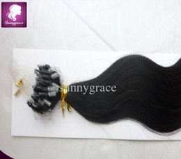 Wholesale 14 Micro Loop Extensions - Ombre hair (#4 60) Brazilian virgin hair body wave micro loop hair weaves hair extension ---sunny grace