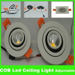 Wholesale Adjustable Ceiling Lamp - Dimmable COB 3w 5W LED Downlight adjustable recessed led Ceiling Lights Warm Cool White Decorative Recessed Lamps Non-dimmable