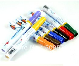 Wholesale Whiteboard Pen Black - Free shipping Erasable colorful whiteboard pens 1 set 8 colors