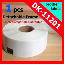 Wholesale Dk Rolls - Wholesale-7 Rolls Brother Compatible DK-11201 Labels 29x90mm 400Pcs DK-1201 Adhesive Sticker Thermal Label