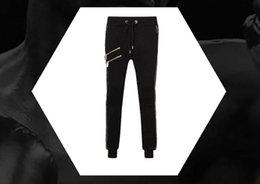 Wholesale hip hop harem pants - new style fashion Locomotive pu panelled mens casual pants sweatpants mens joggers Hip hop harem trousers male brand-clothing