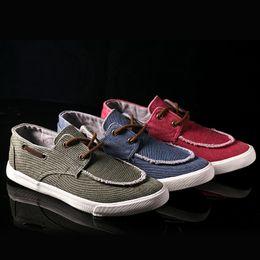 Wholesale Cheap Fashion Shoes Wholesale - 2016 New British Style Men Casual Shoes Fashion Canvas Shoes For Men Shoes Men Flats Zapatos Hombre Quality Breathable Lace Up Cheap J134