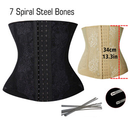 Wholesale Wholesale Latex Shapers - Wholesale- New Plus Size Waist Trainer Corset Minceur Latex Waist Cincher Waist Trainer Belt Slimming Steel Boned Corsets Body Hot Shapers
