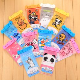 Wholesale Cute Mobile Pouches - 500pcs 10.5*20.5cm Mobile Phone Waterproof Bag Universal Cell Phone Cases Cartoon Cute Phone Accessories DHL Free