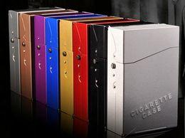 Dh accessoires en Ligne-Étui à cigarettes en aluminium DH-7708, 20 avec clé à inversion automatique, accessoires en verre pour narguilé, livraison aléatoire des couleurs