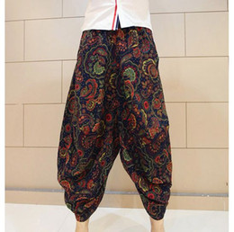 Wholesale Nepal Silver - Wholesale-Free shipping Male fluid bloomers Indian Nepal Baggy Harem Pants Casual Slacks Big crotch pants national trend culottes MP09