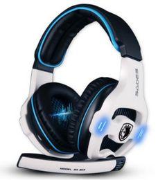 Wholesale Original Pro Headphones - 100% Original Sades SA-903 Earphone Stereo 7.1 Surround Sound Pro USB Gaming Headset With Microphone Headband Headphone