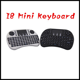 Wholesale 17 Tablet Pc - Portable mini keyboard Rii Mini i8 Wireless Keyboard with Engilsh Touchpad for PC Pad Google Andriod TV Box free dhl