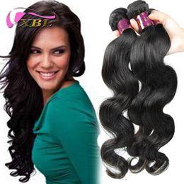 Wholesale Extention Human Virgin Hair - Wholesale -100% brazilian virgin hair weft remy human hair extention 3 Bundles XBL New Brazilian Hair