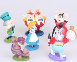 Wholesale Alice Wonderland Toy Set - Hot Classic MINI ALICE IN WONDERLAND PVC Cake Toppers Figure Toy 6pcs Set Best Gift For Girls