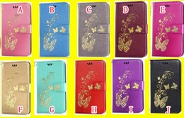 Wholesale Leather Case Q8 - Bling Flower Butterfly Wallet Leather Case For LG Q8 MOTO X4 Google Pixel2 XL Sony Xperia XA1 Plus XZ1 Compact Plating Stand Card Skin Cover