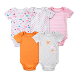 Wholesale Clothing Sets Wholesale Price - 2016 New 5 Pcs Lot Baby Boy Clothes Newborn Baby Bodysuit Short Sleeved 100% Cotton Baby Clothes Baby Bodysuit Set Factory Price