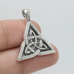 Wholesale Celtic Knot Pendant Wholesale - 15pcs-- Celtic Knot Charm 30x24mm Antique Silver tone Celtic Knot Charm Pendants