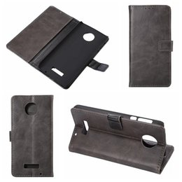 Wholesale Blackberry Z - For Blackberry Dtek50 Retro Crazy Horse PU Wallet Leather For Sony Xperia XZ, X Compact,For MOTO Z force, Holder Credit Card Slot Flip Cover
