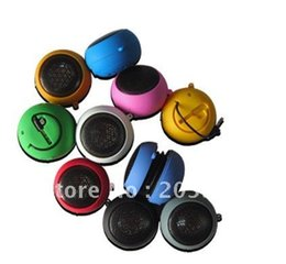 Wholesale Hamburger Mp3 - 50pcs lot Mini portable Hamburger Music Speaker for PC for MP3 MP4 player for mobile phone Free Shipping