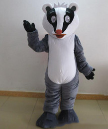 Wholesale Badger Costume - 100% positive feedback a grey badger mascot costume with a whit head for adult to wear