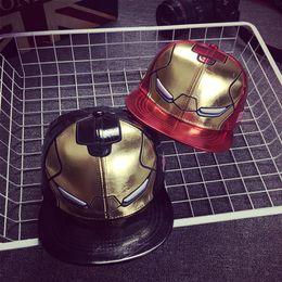 Wholesale Brim Iron - Korean Summer Hip Hop Cap Iron Man Hip Hop Baseball Cap Flat Brimmed Sun Hat Flat Hat Street Fashion Hat