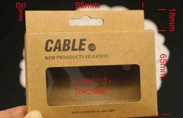 Câbles marron en Ligne-Câble adaptateur chargeur USB universel brun rétro papier boîtes de vente au détail pour Samsung Galaxy S6 S7 note 6 iphone 5 se 6 plus