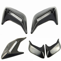 Wholesale Vented Door - Universal Car sticker 2pcs Car Auto Side Vent Air Flow Fender Intake Sticker Black Silver Decorative car Styling