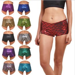 Wholesale Short Scale - New 2016 Hot Print Fish Scale Fashion Sports Shorts Women Summer Plus Size Digtal Printing Fitness Running Shorts Low Waist Short Pants