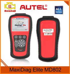 Wholesale Data Stream Reader - Authorization Distributor Autel Maxidiag Elite MD802 All system US Version Full System DS+EPB+OLS+Data Stream DHL free shipping