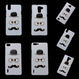 Wholesale Honor 3x - 3D Cute Skin Case for Huawei Honor 3C 3X 4X Honor 6 7 7i 8 V8 5X Holly, Fashion Chaplin Sexy Gentleman Hat Glasses Mustache Back Hard Cover