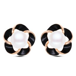 Wholesale Plants Article - Japan and South Korea series new temperament of the ear Lucky flower earrings of deserve to act the role of small adorn article